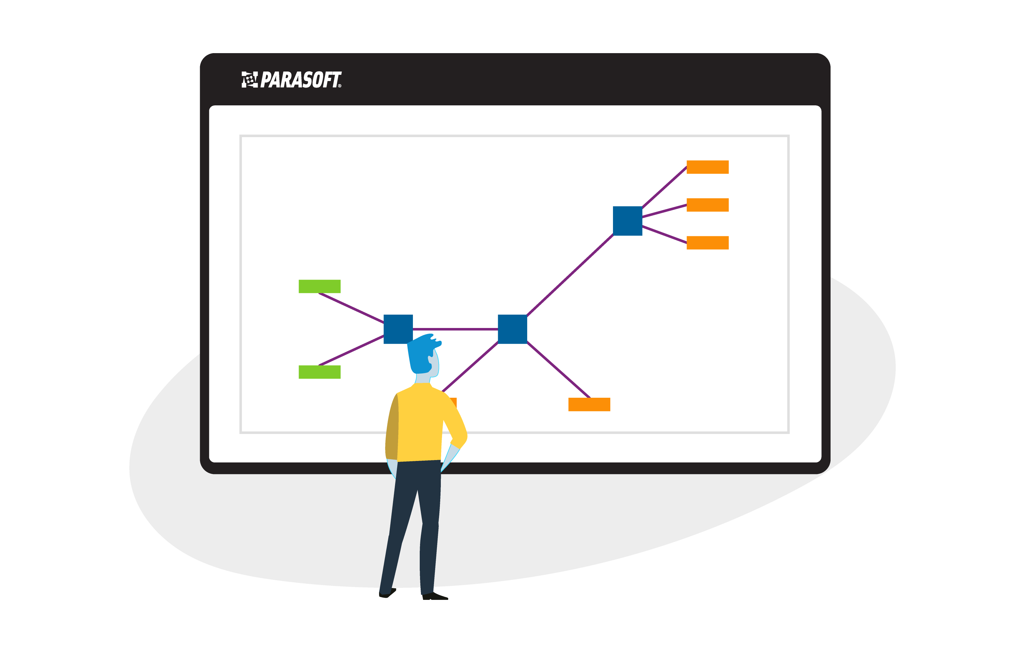 Parasoft_ProductIllustration_Intuitive, visual ways to understand data sources