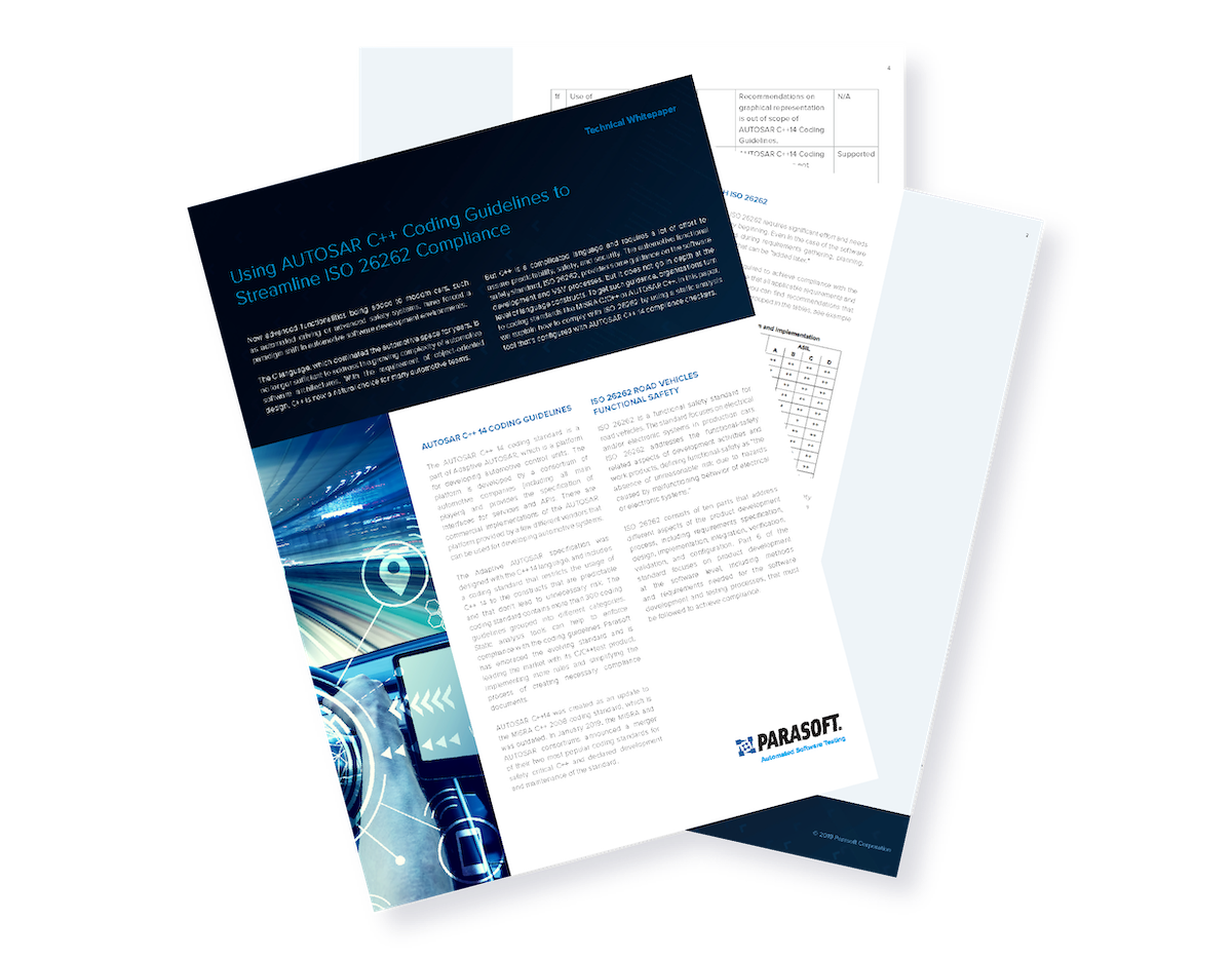Using AUTOSAR C++ Coding Guidelines to Streamline ISO 26262 Compliance
